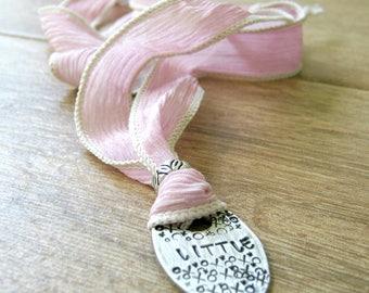 Little Necklace, Ribbon Necklace, DDlg Necklace, Little Collar, DDLG Choker, Choose ribbon color, Ribbon BDSM Collar, DDLG collar