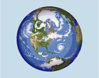 Planet Earth Cross Stitch Chart