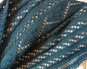 "Pattern to Knit ""Strands of Lace"" Scarf PDF"