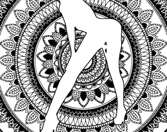 Mandala Booty X-Rated Adult Coloring Page