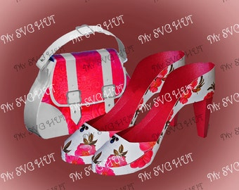 High Heel Shoe and Bag set  DIGITAL download