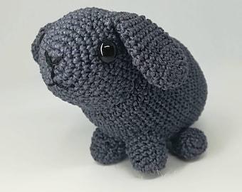Thread crocheted Holland lop bunny rabbit soft toy stuffy
