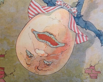 1915 Mother Goose Nursery Rhyme Humpty Dumpty, Illustrated by Frederick Richardson