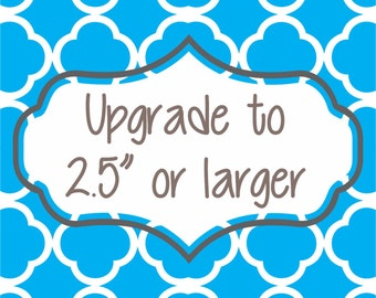 Pendant size upgrade