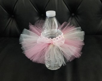 Water Bottle Tutu. It's a girl decoration. Baby shower decoration. Pink Ballerina decoration.