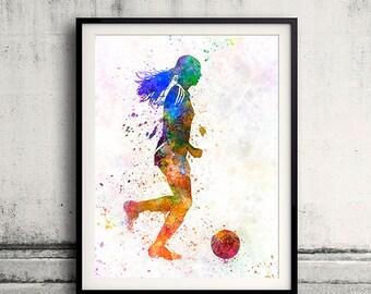 Girl soccer football player playing 05 - SKU 0711
