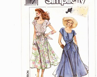 "Simplicity 9195 vintage Scoop Neck Dress Pattern Sizes 14-20 Bust 36""-42"" Uncut Sewing Pattern"