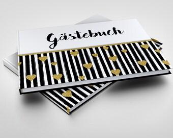 Gästebuch Glitter Hearts