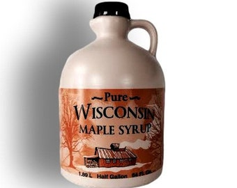 Pure Wisconsin Maple Syrup Half Gallon Grade A Medium Amber