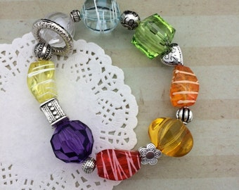 Young Women Values Bracelet  YW Values Colors Beaded Bracelet  Personal Progress Values Colors YW in Excellence New Beginnings Carded Gift