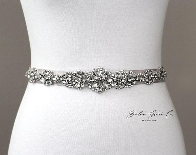 Bridal Belt, Bridal Sash, Beaded Bridal Sash, Wedding Belt, Wedding Sash Rhinestone Sash B51S