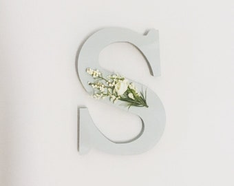 "Decorative Wall ""S"" Hanging Letter in Eggshell Blue"