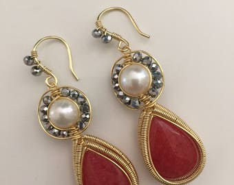 Summer Coral Earrings