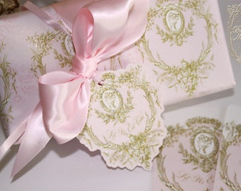 Gift Wrap Marie Antoinette Gift Wrap 4  Sheets Choose from a Variety of Designs