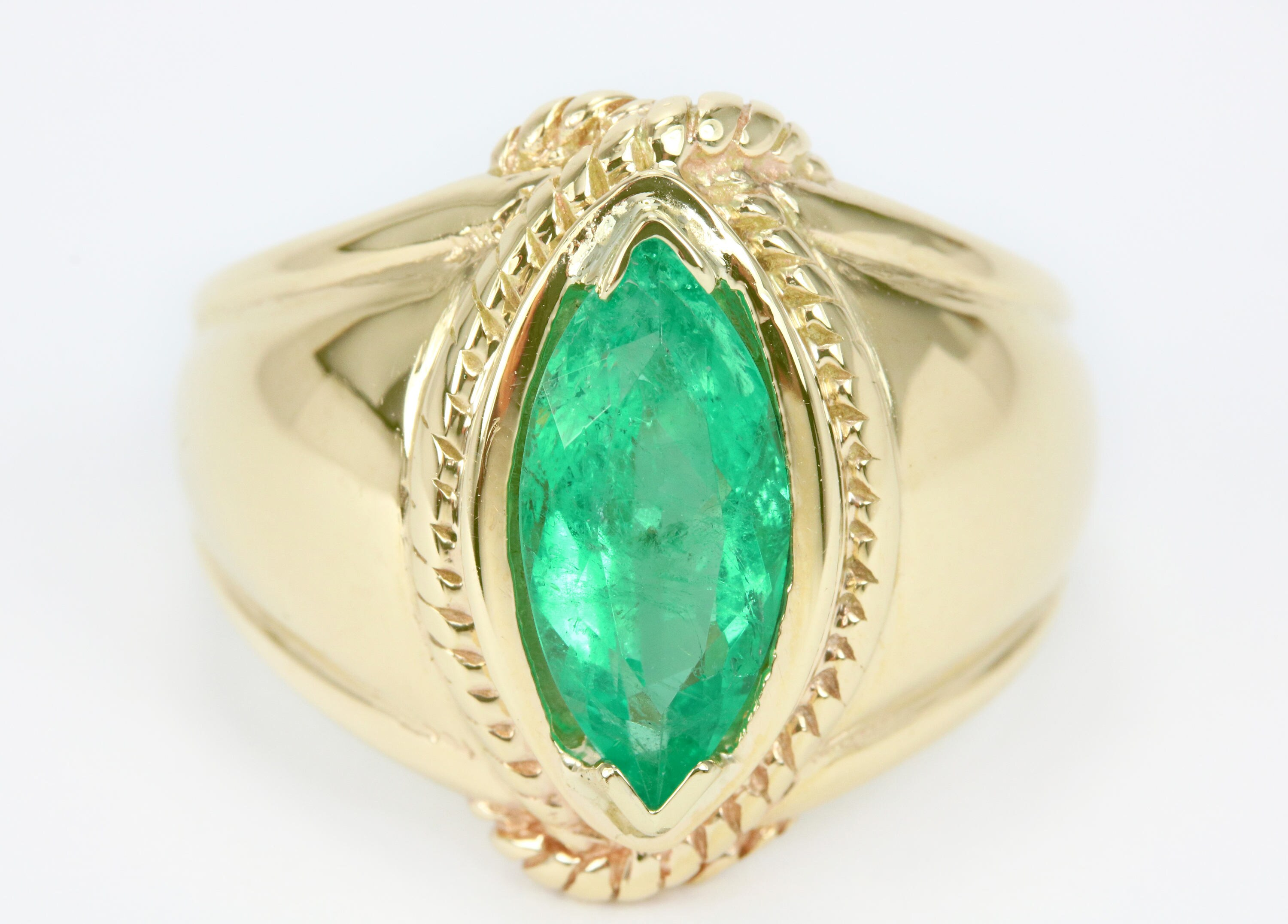 ring men gold and mens ctw sapphire diamond product natural green s emerald