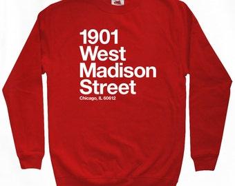 Chicago Basketball and Hockey Stadium Sweatshirt - Men S M L XL 2x 3x - Crewneck, Chicago Shirt, Sports - 4 Colors
