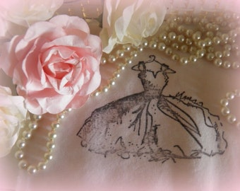 La Petite French Dress -  in Paris Pink - Ooh La La - Perfect for your Journaling and embellishing!