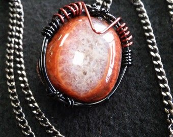 Snakeskin Agate | Wire Wrapped Pendant | Pendant | WireWrapped |