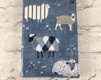 Sheep Oilcloth A5 book cover