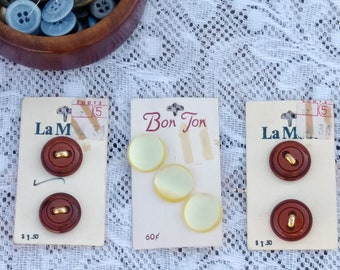 La Mode Button Cards From Zodys Vintage Department Store