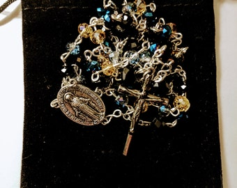 Black, Blue, and Yellow Rosary