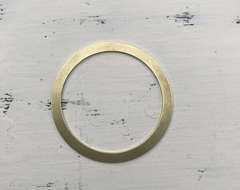 Brass flat bangle blank 1/4 in wide x 1/16th in thick