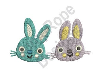Happy Easter Bunnies - Machine Embroidery Design