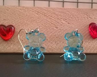Girl Teddy bear earrings