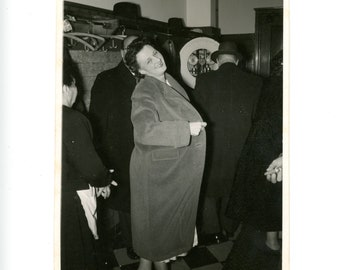 Vintage photo - The cloak - Original Vintage Photos from PhotoTrouvee - 1950s found photo