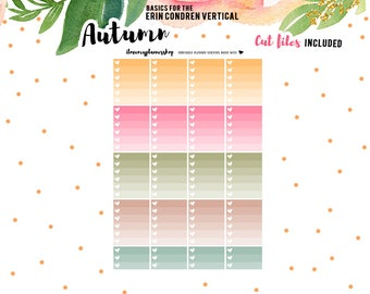 Printable Planner Stickers, Checklist Planner Stickers, Ombre Checklist, To Do Stickers, Autumn Stickers, Functional Stickers