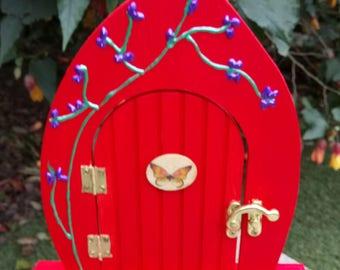 Handmade painted fairy door