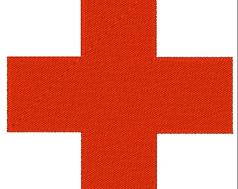 Machine Embroidery Design red cross health (3 sizes) - Instant Digital Download