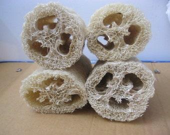 4pcs -Natural 8''inch Loofah Luffa Loofa Bath Shower Sponge (BRAND NEW)