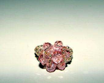 Handmade Jewelry Crystal Beads 'Princess' Pink