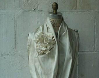 069 silk cowl ruffle scarf, wedding accessories