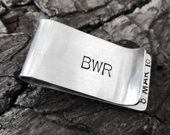 Sterling Silver Rustic or Shiny Money Clip