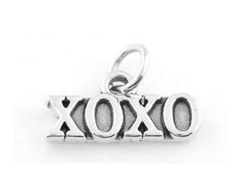 Sterling Silver XOXO (Hugs and kisses) Charm (Flat Charm)
