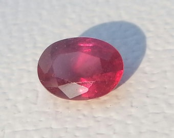 1.2 carat Natural Ruby. Faceted