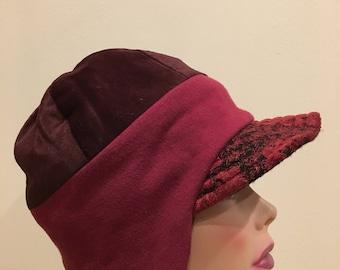 Earflap hat with fleece lining