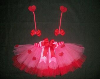 "Valentine's day tutu set, ""Love Bug"" custom made Newborn-4t"