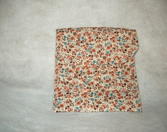Baked Potato Bag - Flowers (brown)