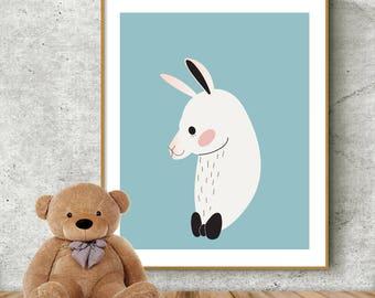 Alpaca print, Nursery print, Nursery decor