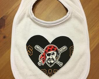 Pittsburgh Pirates Heart Bib