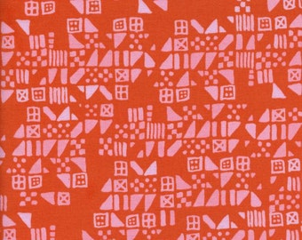 1 Yard Clover by Alexia Marcelle Abegg for Cotton and Steel 4029-2 Tiny Tiles Persimmon