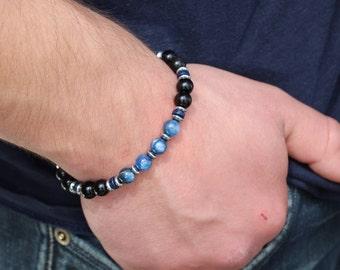 Men's Bracelet Mens Bracelet Mens Beaded Bracelet Mens Kyanite Bracelet Mens Onyx Bracelet Mens Kyanite Bracelet