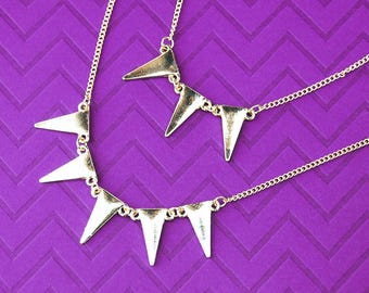 Layered Statement Triangle Necklace