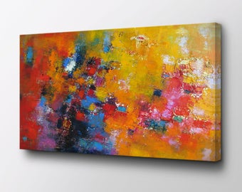 Rhapsody Of Spirit - Original Abstract Canvas Art - Exclusive design by Epik - Ready to Hang Wall Decor