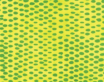 1/2 yd Poems From Pebbles Masher by Malka Dubrawsky for Moda Fabrics 23248 16 Lemon