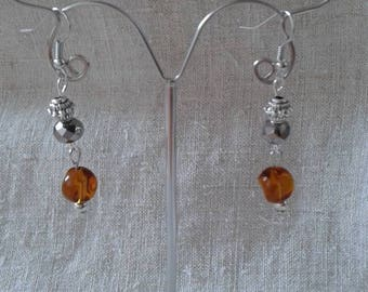 """beautiful pearls duo"" earrings"