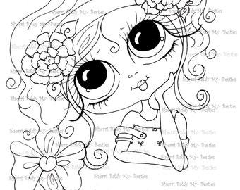 INSTANT DOWNLOAD Digital Digi Stamps Big Eye Big Head Dolls Digi  My Besties Making Faces IMG237By Sherri Baldy
